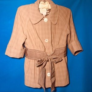 Tracy Reese NY brown belted blazer size 2